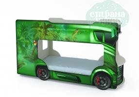 Кровать-автобус Vivera зеленый