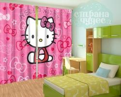 "Фотошторы для детской комнаты ""Hello Kitty"""