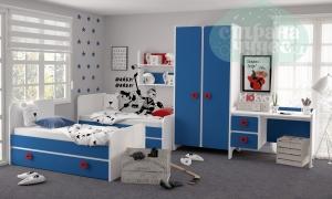 Комната детская Klюkva Mini Королевский синий-Белый