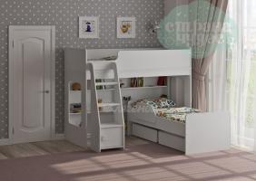 Двухъярусная кровать Легенда 42.3.2, белая
