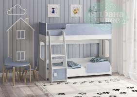 Двухъярусная кровать Легенда 42.4.1, голубой