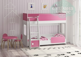 Двухъярусная кровать Легенда 42.4.1, розовый