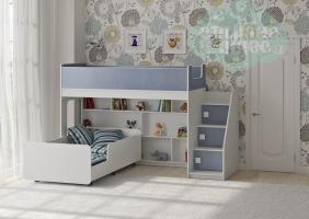 Двухъярусная кровать Легенда 43.3.3, голубой