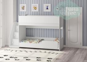 Двухъярусная кровать Легенда 43.4.1, белый