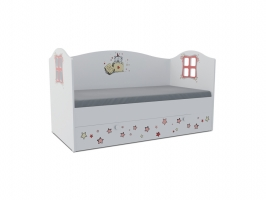 Кровать-домик детская Klюkva Baby KD, 160х80 см, Тедди