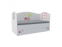 Кровать-домик детская Klюkva Baby KD16, 160х80 см, Зайка