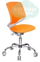 Кресло детское Бюрократ KD-7/TW-96-1 оранжевый TW-96-1