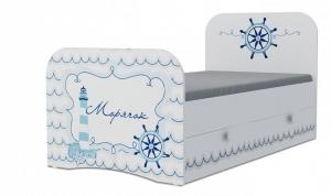 Кровать детская Klюkva Baby KE, Стандарт, с ящиками, Морячок