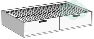 Кровать Klюkva Junior BT01 с 2 ящиками с подъемным механизмом