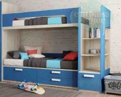 Кровать двухъярусная Klюkva Junior, королевский синий