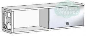 Полка Klюkva Velvet VP3 с зеркальным фасадом