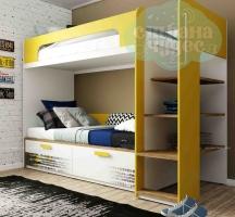 Кровать двухъярусная Klюkva Junior BR 01, Automobile, Солнечный свет