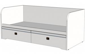 Кровать-диван Klukva Calypso с 2 ящиками