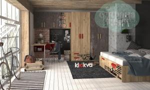 Детская комната Клюква Junior, print Retro