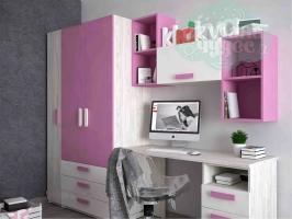 Детская комната Klюkva Junior, Роза/дуб серый