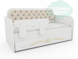Кровать-диван Тридевятое Царство, кремовая
