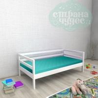 Кровать из березы №1 белая