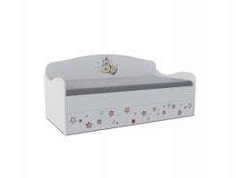Кровать-диван детская Klюkva Baby KS с ящиком, Тедди