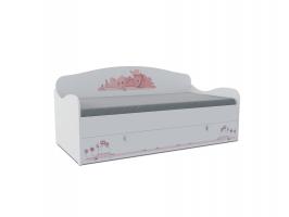 Кровать-диван детская Klюkva Baby KS, с ящиком, Мишка Girl
