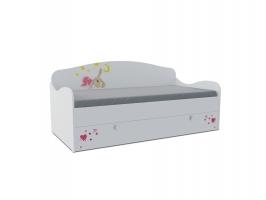 Кровать-диван детская Klюkva Baby KS с ящиком, Зайка
