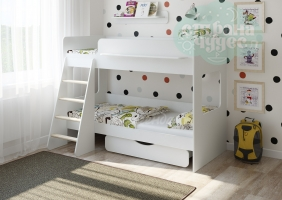 Двухъярусная кровать Легенда 25.2, белая