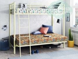 Кровать-чердак с диваном ФМ Мадлен-2, слоновая кость