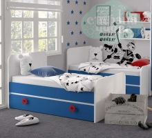 Кровать универсальная Klюkva Mini MB2, королевский синий/белый