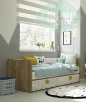 Кровать-диван Klюkva Mini MB3, Sketch дуб золотой/белый