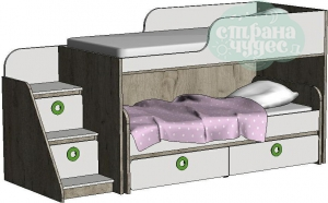 Кровать двухъярусная Klюkva Mini MBR2