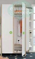 Шкаф комбинированный Klюkva Mini MH1, дуб серый/белый