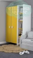 Шкаф комбинированный Klюkva Mini MH1, солнечный свет/белый