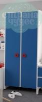 Шкаф комбинированный Klюkva Mini MH1, королевский синий/белый