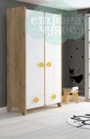 Шкаф комбинированный Klюkva Mini MH2, белый/дуб золотой
