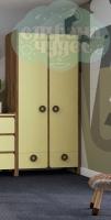 Шкаф комбинированный Klюkva Mini MH2, лимонный сорбет/дуб табачный