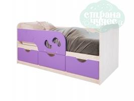 Кровать детская BTS Минима Лего, лиловый-глянец