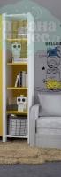Стеллаж открытый Klюkva Mini MP1, белый/солнечный свет