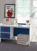 Стол письменный Klюkva Mini MST1, 120 см, королевский синий/белый
