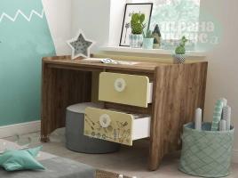 Стол письменный Klюkva Mini MST1, 120 см, Boho дуб золотой/солнечный свет