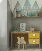 Стол письменный Klюkva Mini MST1, 110 см, Sketch, солнечный свет/дуб золотой
