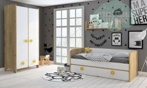 Комната детская Klюkva Mini Белый-Дуб золотой