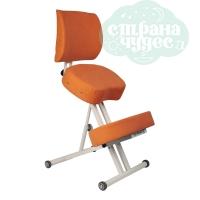 Стул коленный Олимп 2, толстые подушки, оранжевый