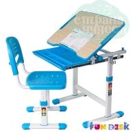 Комплект парта и стул-трансформеры FunDesk Piccolino голубой