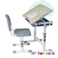Комплект парта и стул-трансформеры FunDesk Piccolino серый