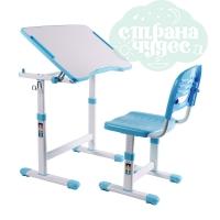Комплект парта и стул-трансформеры FunDesk Piccolino II голубой