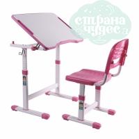 Комплект парта и стул-трансформеры FunDesk Piccolino II розовый