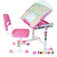 Комплект парта и стул-трансформеры FunDesk Piccolino розовый