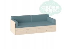 Комплект подушек и покрывало на кровать 190 см, голубой