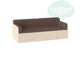 Комплект подушек и покрывало на кровать 190 см, коричневый
