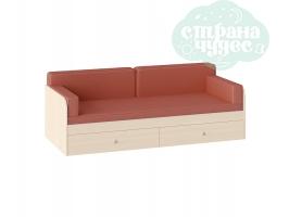 Комплект подушек и покрывало на кровать 190 см, оранжевый