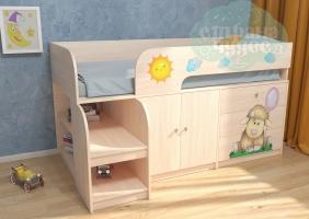 Кровать-чердак РВ-мебель Астра 9 Овечка